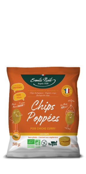 Chips POPPEES curry bio Emile Noel